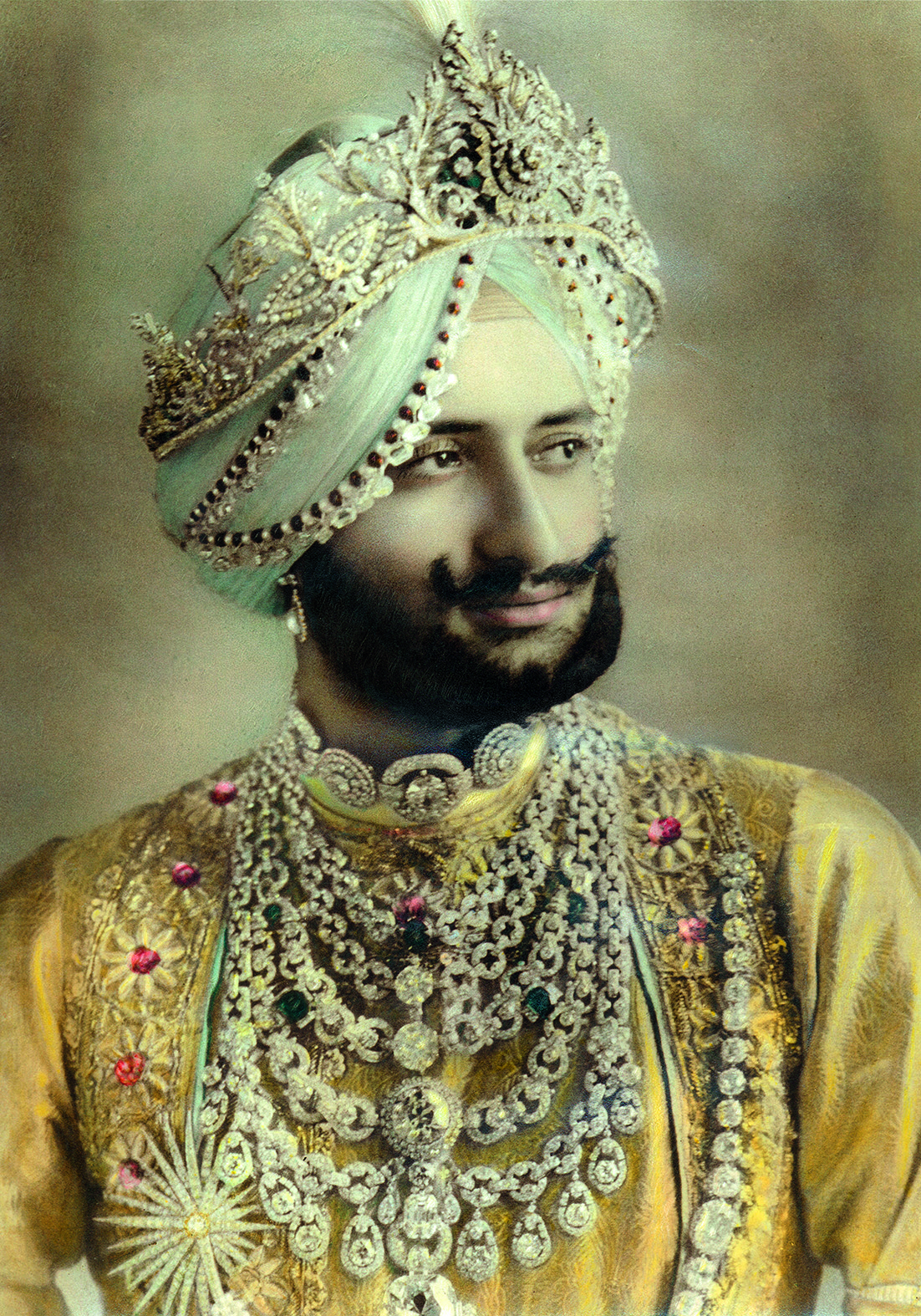 Maharajah of Patiala Wearing Cartier