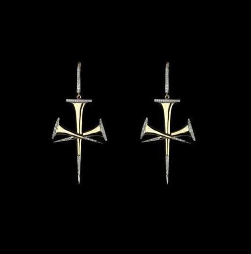 Hanut Singh Jesus Nail earrings