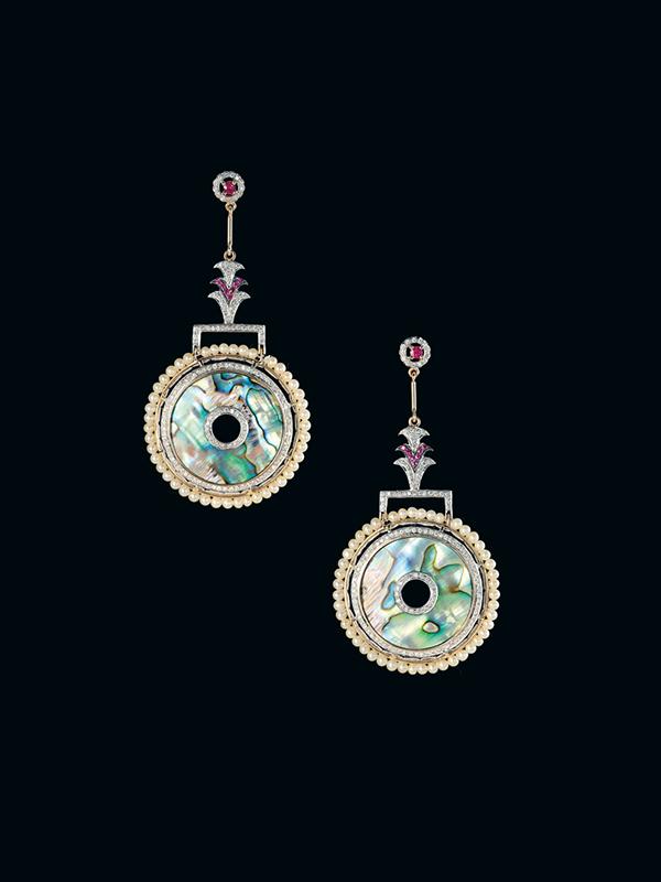 Hanut+Singh Deco Fountains Earrings