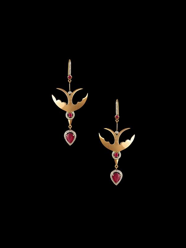 Hanut+Singh Diving Swallows Earrings_83