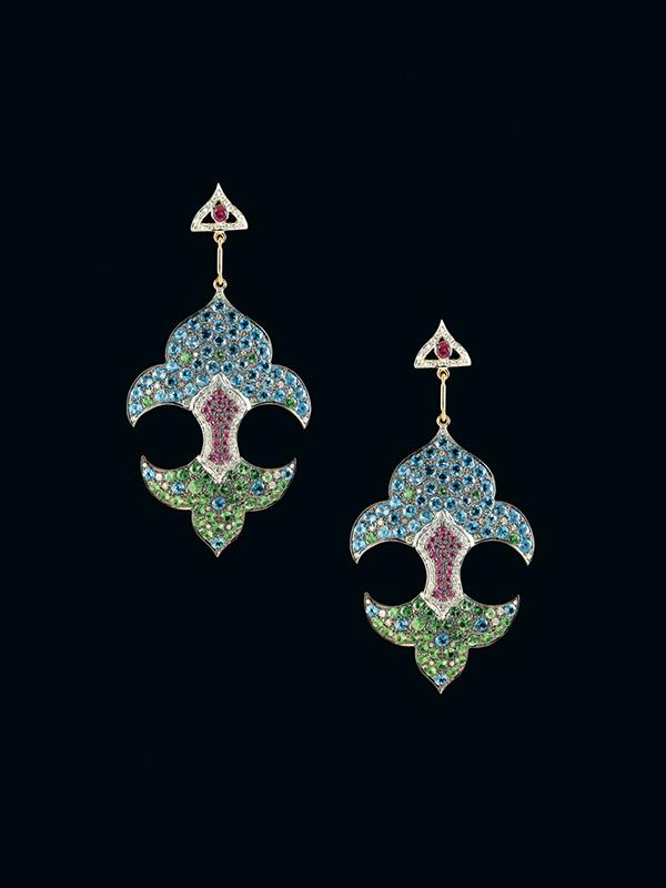 Hanut+Singh_Earrings Mughal Fleur de Lis_20